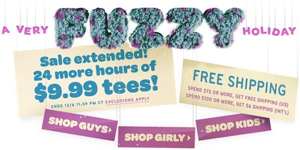 Threadless T-Shirt Sale