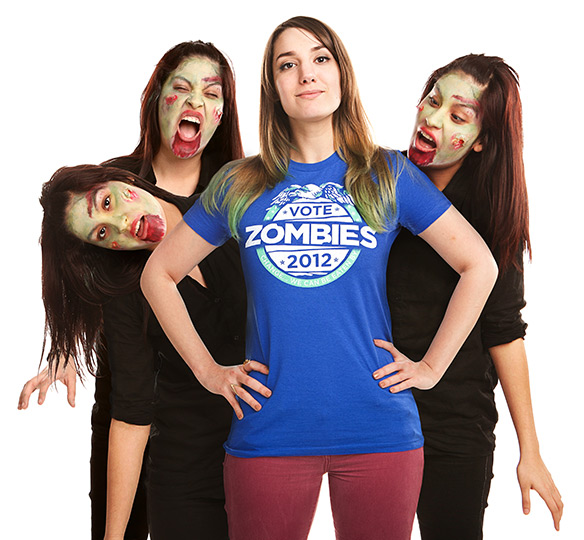 Threadless Vote Zombies 2012 Girls T-Shirt