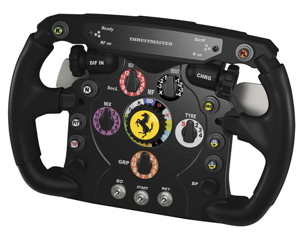 thrustmaster ferrari f1 italia racing wheel add on. Black Bedroom Furniture Sets. Home Design Ideas