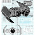 TIE Advanced x1 Starfighter Schematic T-Shirt