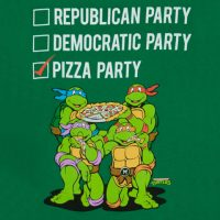 TMNT Vote Pizza Party Shirt