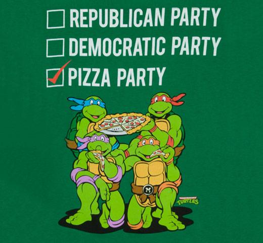 TMNT Vote Pizza Party Shirt