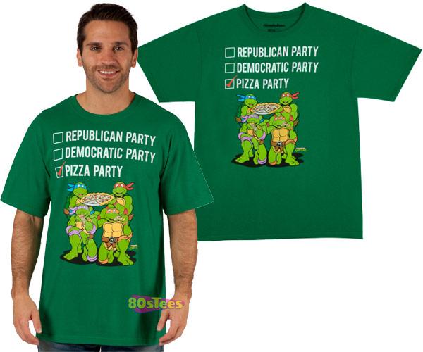 TMNT Vote Pizza Party T-Shirt