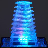 Illuminated LED Pyramid Fountain
