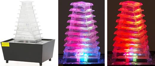 Illuminated LED Pyramid Fountain