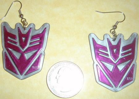 Transformers Decepticon Earrings