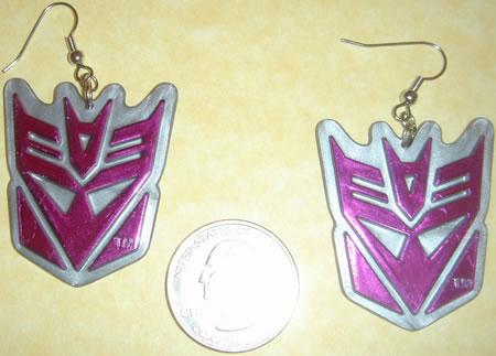 Transformers Decepticon Earrings