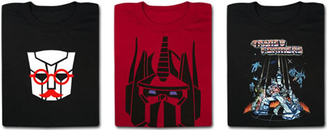 New Transformers T-shirts