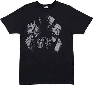 Optimus Prime vs Megatron Transformers T-shirt