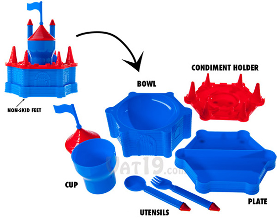 Transforming Castle Plate Bowl