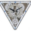 Triangle Moving Gear Wall Clock