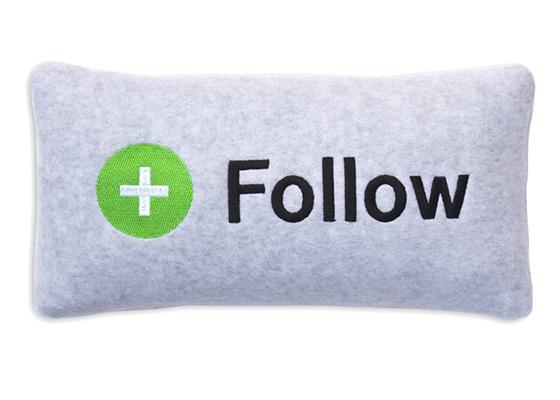 Twitter Follow Pillow