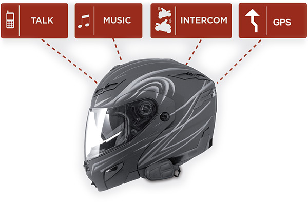 UClear HBC100 Bluetooth Helmet Communicator