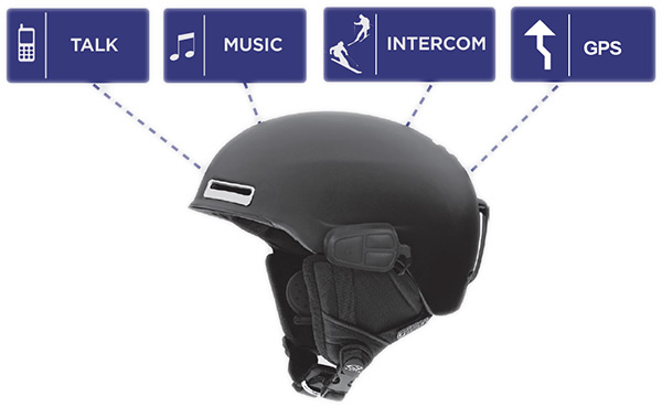Uclear Hbc120 Snow Helmet Communicator