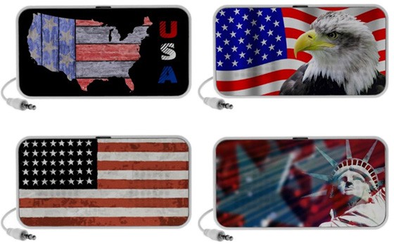 American Flag Portable USB Speakers