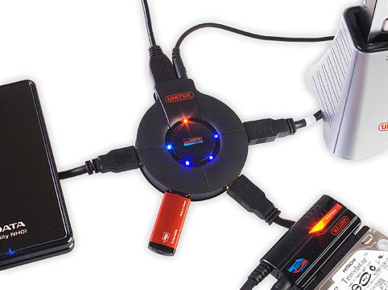 USB 3.0 SuperSpeed 4-Port Hub