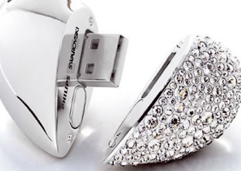 Swarovski Heart Beat USB Memory Key
