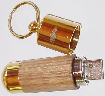 Morgan Ash Gold 1GB USB Flash Drive