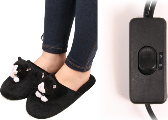 USB Heating Cat Slippers