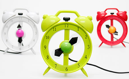 USB Alarm Clock Fan
