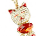 Crystal Cat USB Flash Drive Necklace