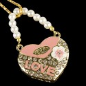 USB Jewel Love Heart Necklace Flash Drive
