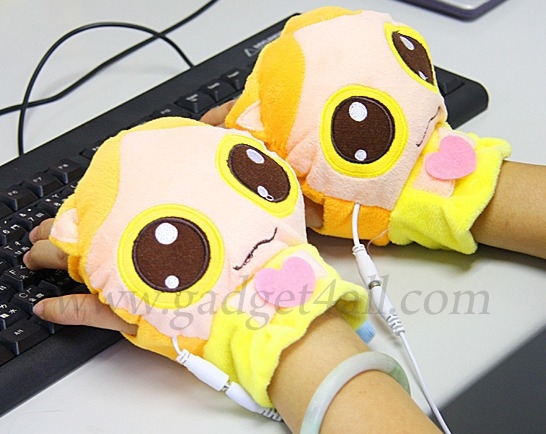 USB Heated Kitty Gloves
