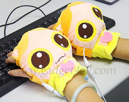 7aabf5d6f USB Heated Kitty Gloves