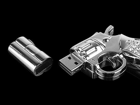 USB Jewel Gun Jump Drive