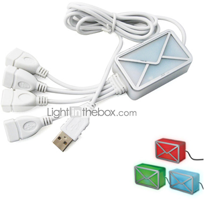 USB Webmail Notifier 4 Port USB 2.0 HUB