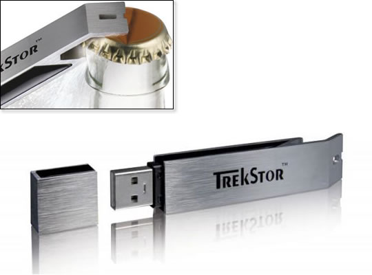 TrekStor USB Drive Bottle Opener