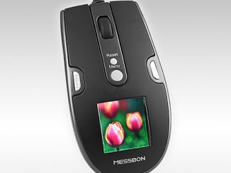 USB Optical Mouse with Digital Photo Frame