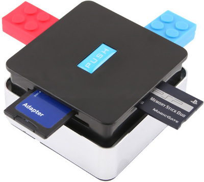 USB Push-up Hub Combo