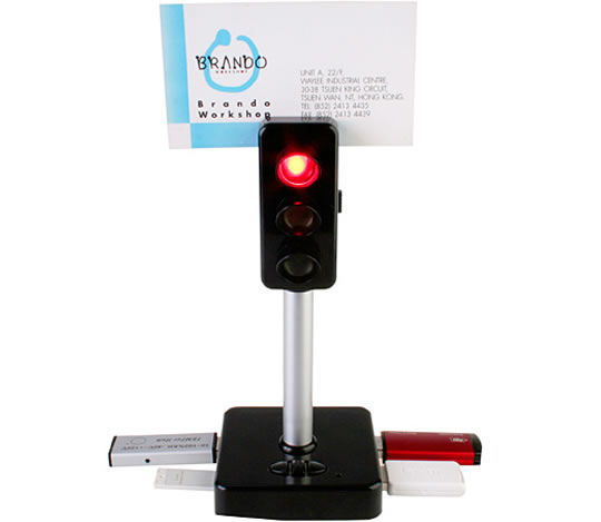 Traffic Light 4-Port USB Hub with Voice Recording