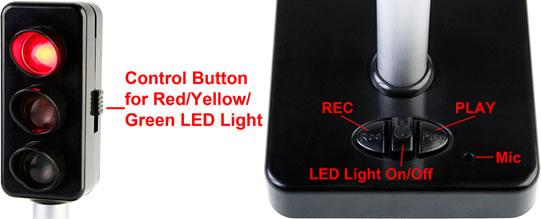 Traffic Light 4-Port USB Hub with Voice Recording