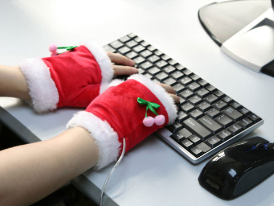 USB Christmas Heating Gloves