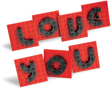 LEGO Valentine Letter Set