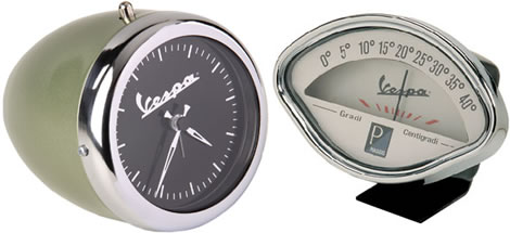Vespa Alarm Clock and Thermometer