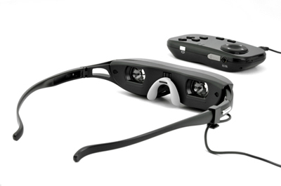 Video Glasses Rear View