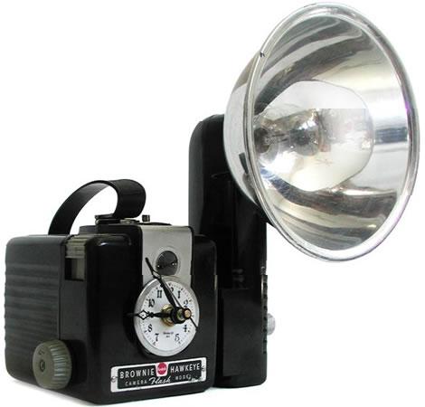 Vintage Flash Camera Clock
