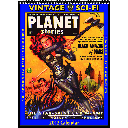 Vintage Sci-Fi 2012 Wall Calendar