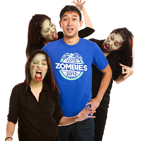 Threadless Vote Zombies 2012 Guys T-Shirt