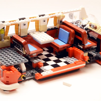 lego volkswagen t1 camper van time lapse build. Black Bedroom Furniture Sets. Home Design Ideas