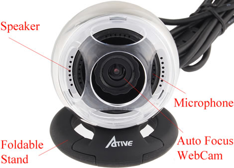 USB Webcam with Speaker and Microphone