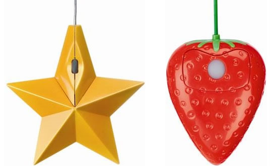 Star and Strawberry Computer Mice