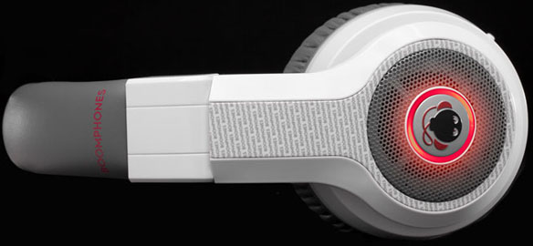 white boomphone headphones