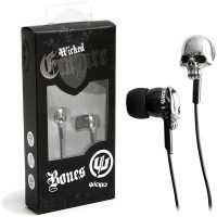 Wicked Empire Bones Skull Earbuds