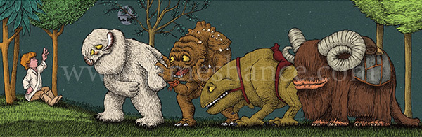 James Hance Star Wars Where the Wild Things Are