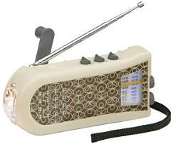 Orla Kiely Wind Up Radio & Torch