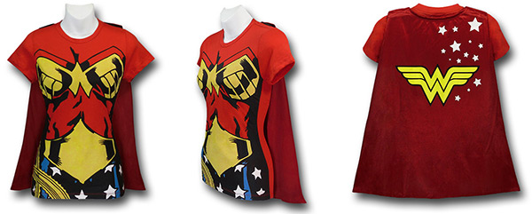 Wonder Woman Caped Costume Shirt